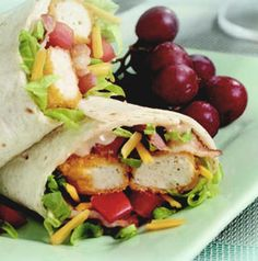 Here's a great idea for a quick sandwich. Make a BBQ Ranch Chicken and Bacon Wrap, wrap tightly and pack in your kid's cold lunch. They'll be thrilled!