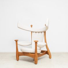 """Originally designed for the exhibition """"Furniture as Work of Art"""" in 1962. The """"Aspas"""" armchair, or """"Chifruda"""", which is how the piece is more affectionately referred to in Rodrigues' office, had never been produced, save for a lost prototype in jacaranda. The term """"Chifruda"""" popularly connotes the image of a wife whose husband is adulterous. This quality is typical of Rodrigues' unique sense of humor and wit, which characterizes an essential aspect of his design and architecture. At the…"""