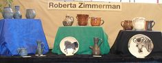 Roberta Zimmerman Pottery Wall -- https://wenaha.com/beautiful-lizards-the-pottery-of-roberta-zimmerman-at-sun-lizard-studios/