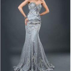 Jovani Silver Formal Gown Pristine condition. Brand new! Jovani Dresses Prom