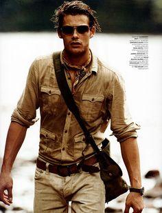 GQ UK; men's fashion editorial; safari inspired style;