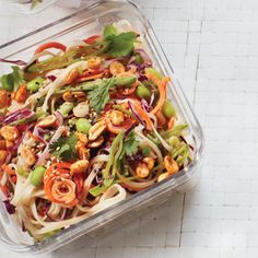 A cold Asian noodle salad is a happy and healthy stir-fry alternative that can be made in advance and served straight out of the fridge.