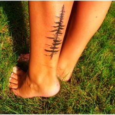 My most recent addition; Pine tree tattoo. For the love of Nature