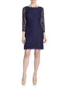 DIANE VON FURSTENBERG Colleen Lace Dress. #dianevonfurstenberg #cloth #dress