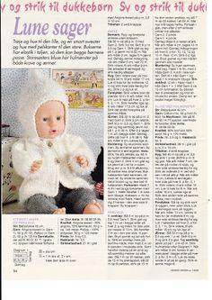 Album Archive - Dukketøj til Baby Born 2 - Ingelise Knitting Dolls Clothes, Baby Doll Clothes, Knitted Dolls, Doll Clothes Patterns, Crochet Dolls, Doll Patterns, Knitting Patterns, Bitty Baby, Baby Born