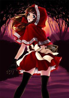 anime little red riding hood Art Manga, Manga Girl, Anime Manga, Anime Girls, Anime Art, Red Riding Hood Wolf, Red Ridding Hood, Disney Pixar, Disney Art