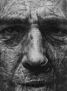 Incredible Charcoal Drawings Textured with Scalpel Blades and Sandpaper