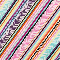 Bright Peer-a-Mid Stripe Apparel Fabric Art Craft Store, Craft Stores, Pretty Phone Wallpaper, Dinner Party Table, Fabric Board, Whimsical Fashion, Fabric Shop, Printing On Fabric