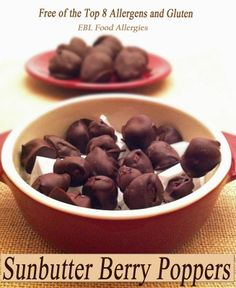 Try these yummy sunbutter filled, chocolate covered berries.  You better make a big batch because they won't last long!