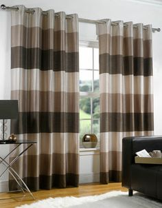 Cozy Modern Curtain Ideas For Living Room : Eyelet Curtains Ideas For Living  Room Shades Of Brown Stripes Part 45