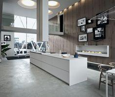 cuisine design blanche et bois | Kitchens