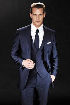 Groom - navy suit