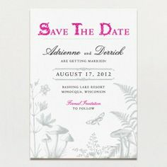 Invitations from A Printable Press can either be printed by them or purchased as a pdf file to print at home/a copy shop.