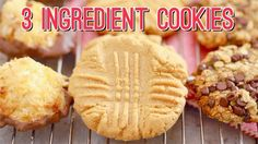 3 Ingredient Cookies: Three AMAZING Recipes!!! Gemma's Bigger Bolder Bak...