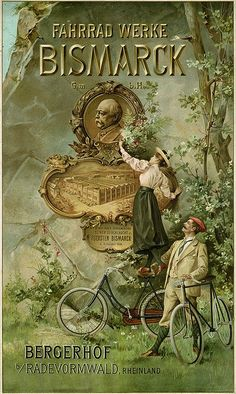 Bismarck Bicycle (1896) a very strange bicycle ad from Londonderry's day