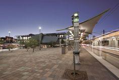 Tempe, Transportation Center, Arizona, USA by Otak - Lake Oswego, Ore. & Architekton - Tempe, Ariz, USA ALUCOBOND Spectra® Green & Platinum