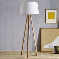 Tripod Wood Floor Lamp #WestElm