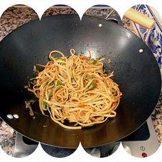 Pasta von verduras al wok
