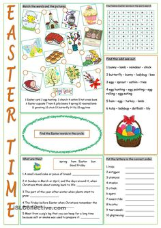 Easter Vocabulary Exercises