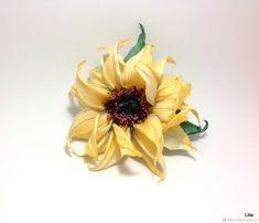 """Подсолнух """"Helios"""". Цветы из шёлка – купить в интернет-магазине на Ярмарке Мастеров с доставкой"""