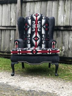 Cowhide Furniture, Cowhide Chair, Dream Furniture, Western Furniture, Types Of Furniture, Funky Furniture, Refinished Furniture, Upcycled Furniture, Furniture Makeover