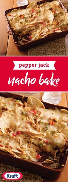 Pepper Jack Nacho Bake – Try this delicious Mexican-inspired dish on your dinner table once, and you might find yourself making chicken dinners just to get the leftovers for this flavorful recipe!