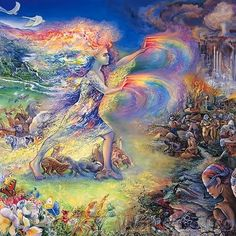 """When the Earth is ravaged and all the Animals are Dying, A NEW TRIBE of People Shall come unto the earth from MANY Colors, Creeds, Classes, AND By their Actions and Deeds Shall make the Earth green again. They shall be known as the warriors of the RAINBOW.""  I wanna be a warrior of the Rainbow! Give Earth back what men took away!"