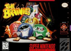 The Brainies (Titus), Super Nintendo - The Brainies are round fluffy monsters that live only to create chaos and universal disorder. Your sole weapon is your brain: you can only neutralize them if you succeed in placing them on their sleeping pads. Playstation, Snes Classic Mini, Super Nintendo Games, New Puzzle, 90s Nostalgia, Entertainment System, Box Art, Weapon, Entertaining