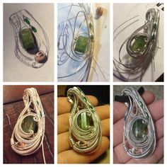 Compiled these progress shots from a recent custom to give you an idea of how some of my complex pieces come together! Check out my portfolio board for the finished piece!