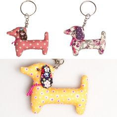 "If you loved the Dali Dachshund Brooch's  you are going to go ""crazy"" for these  adorable Dachshund Keyring's. They are the ideal gift for that Dachshund lov"