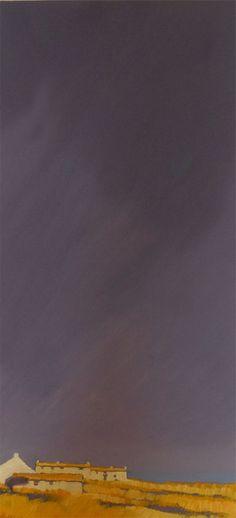 Penwith Coastal Blue, c2000, John Piper, oil on board, 60 x 30 cm., Cornwall