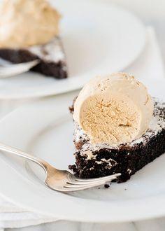 Coffee Ice Cream & Chocolate Cake