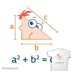 The Phineas (Pythagorean) theorem. - Math poster to make :) School Homeschool Annesley Institute Math 8, Math Jokes, 7th Grade Math, Math Humor, Fun Math, Math Help, Teacher Tools, Math Teacher, Math Classroom