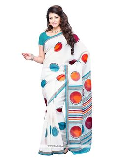 Be an angel and create and establish a smashing affect on everybody by wearing this multi colour georgette casual saree. The ethnic print work to your clothing adds a sign of magnificence statement wi...