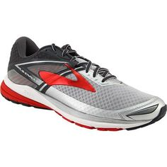 Brooks Ravenna 8 Running Shoes - Mens Silver Anthracite High Risk Red