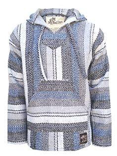 Baja Hoodie Mexican Poncho Pullover - White Gray Diesel Herringbone Pattern (Small) No Bad Days http://www.amazon.com/dp/B00OF5HISS/ref=cm_sw_r_pi_dp_U4dyub19NCAK5