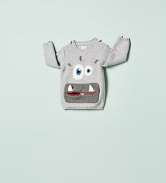 Discover the new ZARA collection online. The latest trends for Woman, Man, Kids and next season's ad campaigns. Baby Boy Fashion, Kids Fashion, Cartoon Expression, Kids Graphics, Zara Boys, Cute Monsters, Boys Wear, Sewing For Kids, Pullover