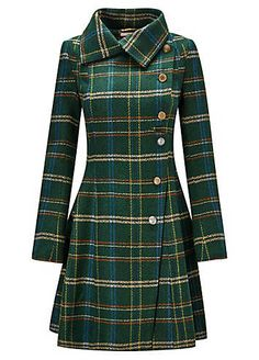 Absolute Joe Coat - - Our best ever coat is back for the season in a delightful new check. With a full skirt and asymmetric buttons, this sweet style is a chic addition to your winter wardrobe. Approx Length: Source by tapasyab Best Winter Coats, Winter Coats Women, Kurta Designs, Sweet Style, Mode Mantel, Winter Stil, Coatdress, Mode Vintage, Winter Dresses