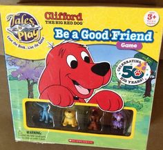 Scholastic Tales to Play Clifford the Big Red Dog Be a Good Friend Game #Patch
