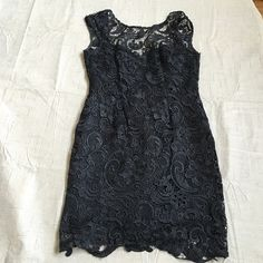Size M Boutique Black Dress Worn twice. In perfect condition, beautiful lace overlay. Dresses