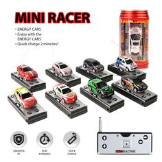 Multi-color Coke Can Mini RC Car Radio Remote Control Micro Racing Car Toy Vehicle Remoto Electronic Kid's Toys Gift - Kid Shop Global - Kids & Baby Shop Online - baby & kids clothing, toys for baby & kid - Rc Car Remote, Remote Control Boat, Radio Control, Micro Rc Cars, Kids Electronics, Baby Shop Online, Power Cars, Gifted Kids, Toy Trucks