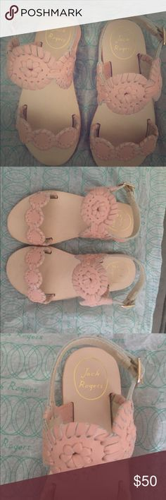 Jack Rogers sandals Brand new Jack Rogers Little Miss Lauren sandals in Blush. So adorable paired with a Lilly dress just too big for my daughter and will be too small next summer! Jack Rogers Shoes Sandals & Flip Flops