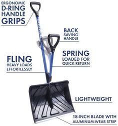Snow Shovel Back Saving Snow Shovel Avalanche Rescue Blue Shovel Adapter NEW #SnowShovelUSA