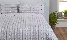 Rapport Home Cable Knit Print Brushed Cotton Duvet Set