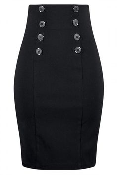 Women's High Waisted Pin Me Up Pencil Skirt
