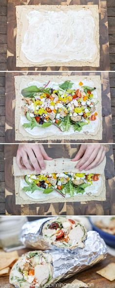 These LOADED Greek Chicken Wraps are crazy delicious and the perfect customizable dinner for the whole family or entertaining!
