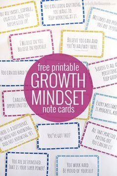 Free printable growth mindset note cards. Help a child who hates maths turn their thinking around.