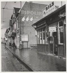 De Tempeliersstraat, ziende naar het westen. Omstreeks 1949