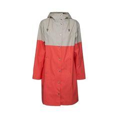 Ilse Jacobsen True Rain raincoat - neon coral milk creme