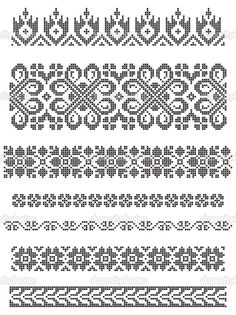 Thrilling Designing Your Own Cross Stitch Embroidery Patterns Ideas. Exhilarating Designing Your Own Cross Stitch Embroidery Patterns Ideas. Cross Stitch Borders, Crochet Borders, Filet Crochet, Cross Stitch Designs, Cross Stitching, Cross Stitch Patterns, Floral Embroidery Patterns, Border Embroidery, Hand Embroidery Designs